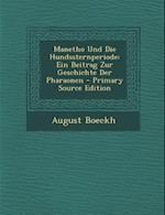 Manetho Und Die Hundssternperiode af August Boeckh