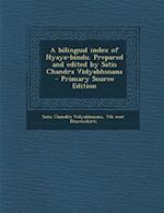 A Bilingual Index of Nyaya-Bindu. Prepared and Edited by Satis Chandra Vidyabhusana af Satis Chandra Vidyabhusana, 7th Cent Dharmakirti