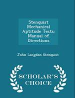 Stenquist Mechanical Aptitude Tests af John Langdon Stenquist