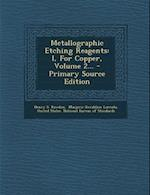 Metallographic Etching Reagents