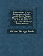 Onomasticon Anglo-Saxonicum