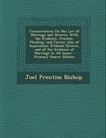 Commentaries on the Law of Marriage and Divorce