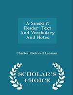 A Sanskrit Reader af Charles Rockwell Lanman