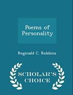 Poems of Personality - Scholar's Choice Edition af Reginald C. Robbins