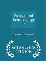 Essays und Erinnerungen - Scholar's Choice Edition