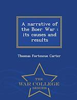 A Narrative of the Boer War af Thomas Fortescue Carter