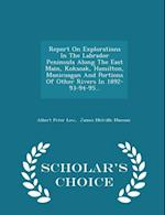 Report on Explorations in the Labrador Peninsula Along the East Main, Koksoak, Hamilton, Manicuagan and Portions of Other Rivers in 1892-93-94-95... - Scholar's Choice Edition af Albert Peter Low