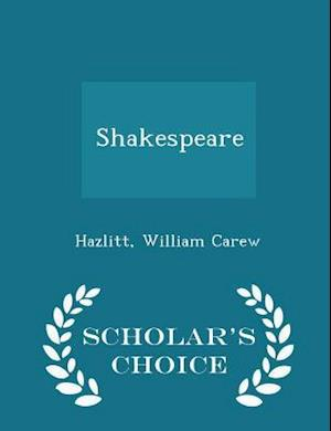 Shakespeare - Scholar's Choice Edition