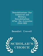 Demobilization: Our Industrial and Military Demobilization After the Armistice 1918-1920 - Scholar's Choice Edition