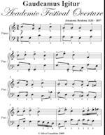Gaudeamus Igitur Academic Festival Overture Easy Piano Sheet Music af Johannes Brahms