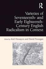 Varieties of Seventeenth- and Early Eighteenth-Century English Radicalism in Context af David Finnegan