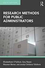 Research Methods for Public Administrators af Maureen Berner, Elizabethann O'Sullivan, Jocelyn DeVance Taliaferro
