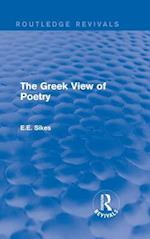 Greek View of Poetry (Routledge Revivals)