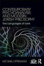Contemporary Psychoanalysis and Modern Jewish Philosophy
