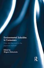 Environmental Subsidies to Consumers