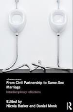 From Civil Partnership to Same-Sex Marriage