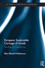 European Sustainable Carriage of Goods (Imli Studies in International Maritime Law)