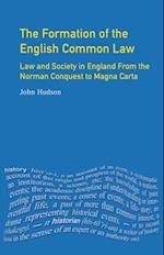 Formation of English Common Law (The Medieval World)