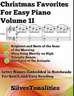 Christmas Favorites for Easy Piano Volume 1 I