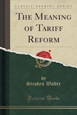 The Meaning of Tariff Reform (Classic Reprint) af Stephen Walter