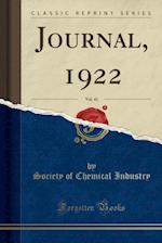 Journal, 1922, Vol. 41 (Classic Reprint)