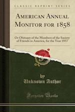 American Annual Monitor for 1858