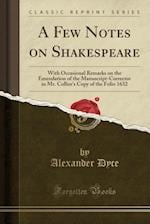 A Few Notes on Shakespeare