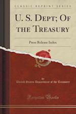 U. S. Dept; Of the Treasury af United States Department of Th Treasury