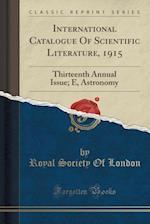 International Catalogue of Scientific Literature, 1915