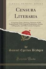 Censura Literaria, Vol. 3