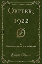 Obiter, 1922, Vol. 7 (Classic Reprint)