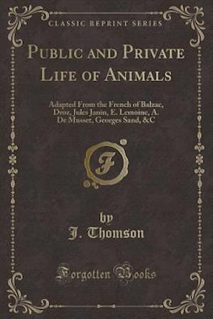 Bog, hæftet Public and Private Life of Animals: Adapted From the French of Balzac, Droz, Jules Janin, E. Lemoine, A. De Musset, Georges Sand, &C (Classic Reprint) af J. Thomson
