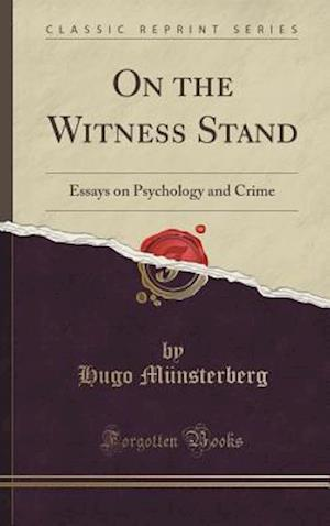 Bog, hardback On the Witness Stand af Hugo M. Nsterberg
