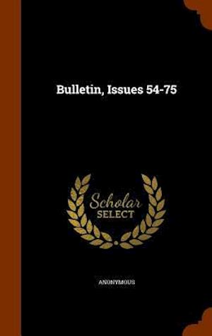 Bulletin, Issues 54-75
