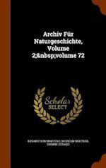 Archiv Für Naturgeschichte, Volume 2; volume 72