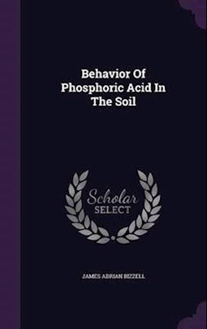 Behavior of Phosphoric Acid in the Soil
