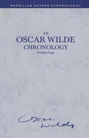 Oscar Wilde Chronology