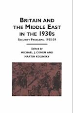 Britain and the Middle East in the 1930's