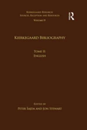 Volume 19, Tome II: Kierkegaard Bibliography