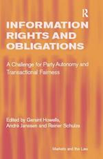 Information Rights and Obligations af Andre Janssen