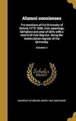 Alumni Oxonienses af Joseph 1844-1905 Foster