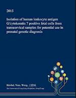 Isolation of Human Leukocyte Antigen G/Cytokeratin 7 Positive Fetal Cells from Transcervical Samples for Potential Use in Prenatal Genetic Diagnosis