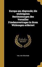 Europa Am Abgrunde; Die Wichtigsten Bestimmungen Des Versailler Friedensvertrages in Ihren Wirkungen Erlautert af Paul 1875- Ruhlmann