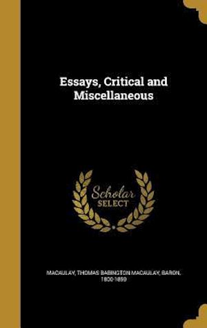 Bog, hardback Essays, Critical and Miscellaneous