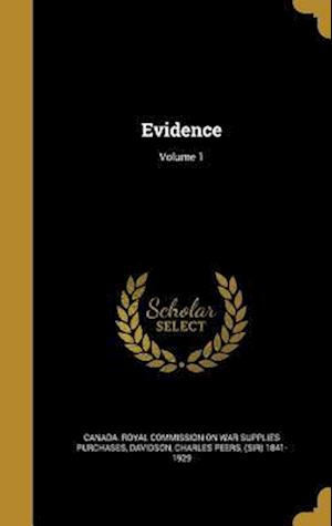 Bog, hardback Evidence; Volume 1