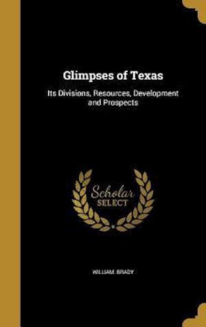 Bog, hardback Glimpses of Texas af William Brady