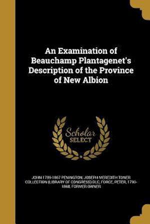 Bog, paperback An Examination of Beauchamp Plantagenet's Description of the Province of New Albion af John 1799-1867 Penington