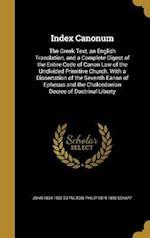 Index Canonum af John 1834-1907 Ed Fulton, Philip 1819-1893 Schaff