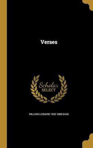 Bog, hardback Verses af William Leonard 1832-1889 Gage