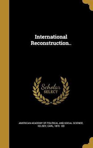 Bog, hardback International Reconstruction..